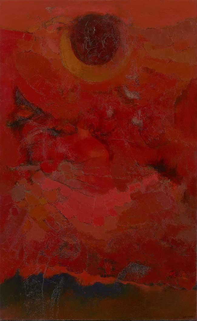 田淵安一《蝕と大地》1956年 <br /> 北九州市立美術館