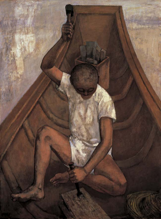 吉井淳二《舟をつくる》1968年<br /> 学校法人ラ・サール学園