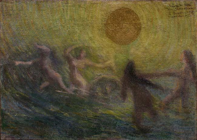 青木繁《輪転》1903年<br /> 石橋財団アーティゾン美術館