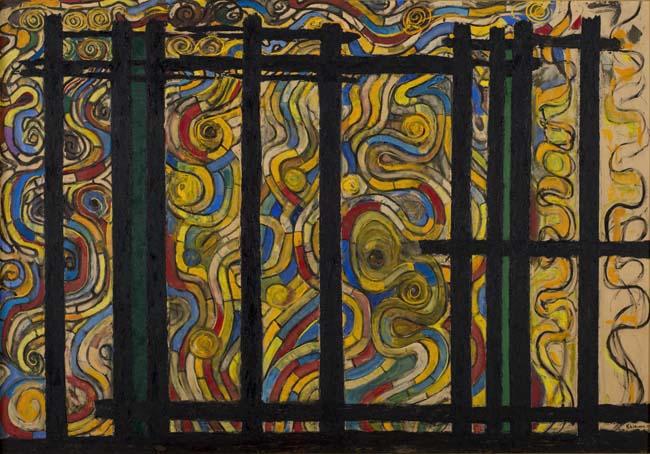 海老原喜之助《燃える》1957年 <br /> 新潟県立近代美術館・万代島美術館