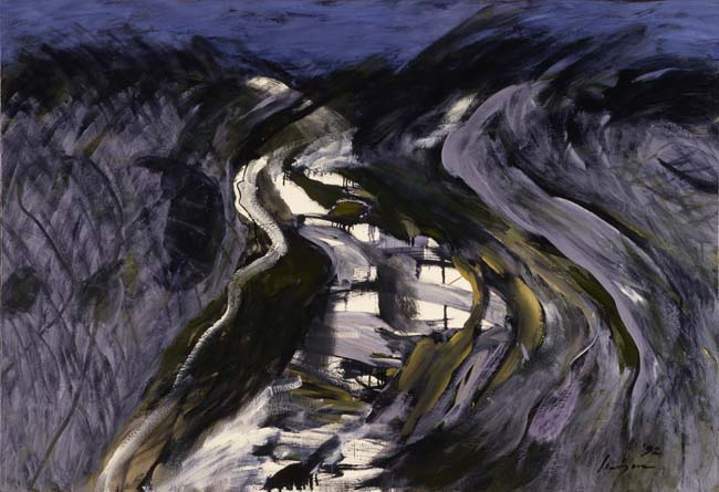 野見山暁治《ぼくの生まれた川オンガ》1992年<br /> 田川市美術館<br /> ©︎Gyoji Nomiyama 2021/JAA2100201<br />
