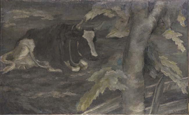 坂本繁二郎《牛》1920年<br /> 石橋財団アーティゾン美術館<br />