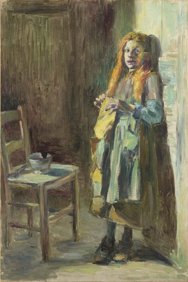 黒田清輝《ブレハの少女》1891年 <br /> 石橋財団アーティゾン美術館