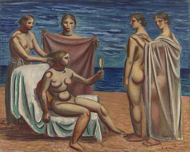 児島善三郎《五人の女》1929年<br /> 久留米市美術館<br />